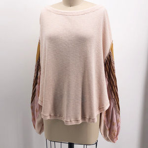 WE THE FREE Free People Blossom Thermal Shirt Boho